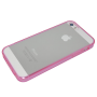 Paars/transparant zacht TPU hoesje iPhone 5/5s