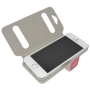 Donkerroze venster flip cover iPhone 5/5s