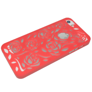 Donkerroze rozen patroon hardcase iPhone 5/5s