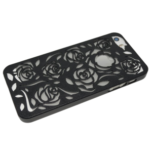 Zwart rozen patroon hardcase iPhone 5/5s