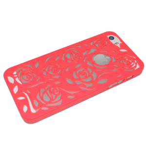Neon roze rozen patroon hardcase iPhone 5/5s