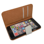 Wit kunstleer wallet case iPhone 6