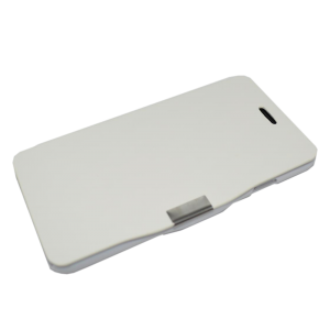 Wit kunstleer flip cover iPhone 6