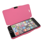 Roze kunstleer flip cover iPhone 6
