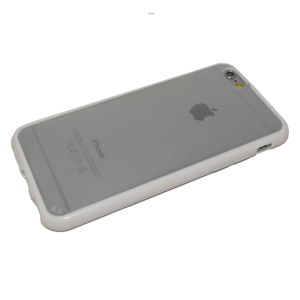 Wit/transparant TPU hoesje iPhone 6