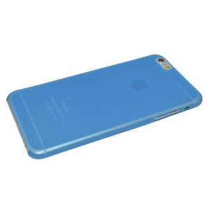 Blauw/transparant mat hardcase iPhone 6 Plus
