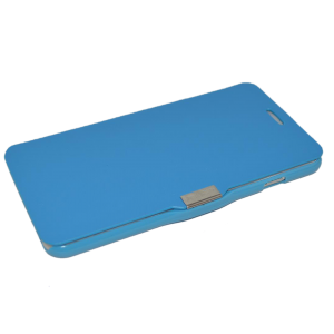 Blauw kunstleer flip cover iPhone 6 Plus