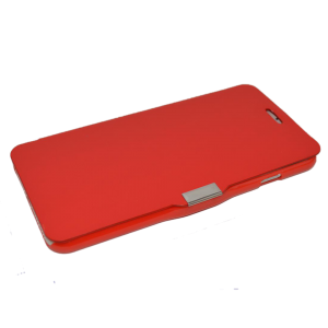 Rood kunstleer flip cover iPhone 6 Plus