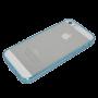 Blauw/transparant zacht TPU hoesje iPhone 5/5s