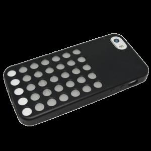 Zwart polkadot TPU hoesje iPhone 5/5s