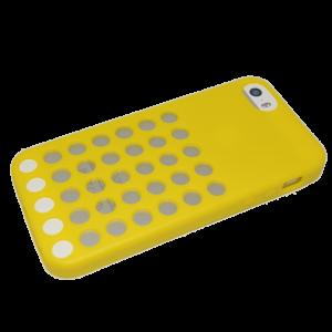 Geel polkadot TPU hoesje iPhone 5/5s