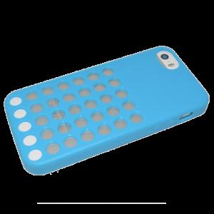 Blauw polkadot TPU hoesje iPhone 5/5s