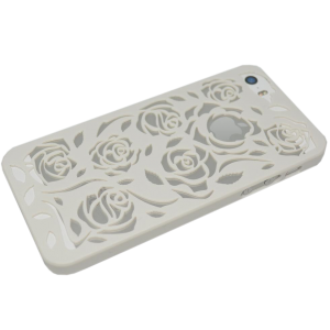 Wit rozen patroon hardcase iPhone 5/5s