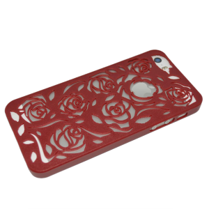 Bordeaux rozen patroon hardcase iPhone 5/5s