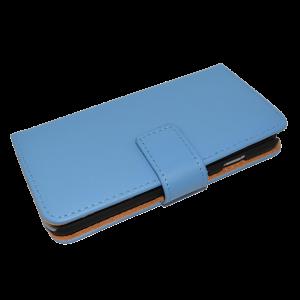 Blauw kunstleer wallet case iPhone 6