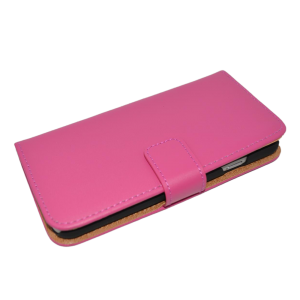 Roze kunstleer wallet case iPhone 6