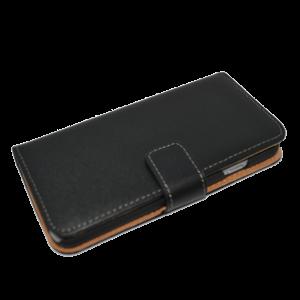 Zwart kunstleer wallet case iPhone 6