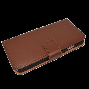 Bruin kunstleer wallet case iPhone 6