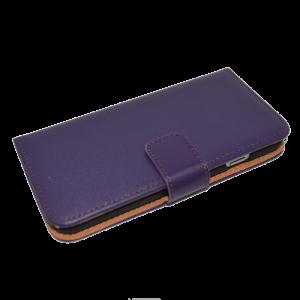 Paars kunstleer wallet case iPhone 6