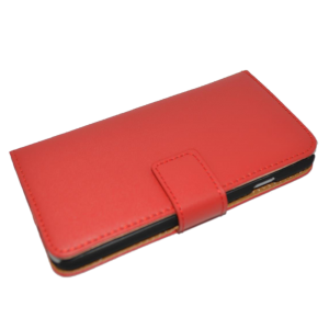 Rood kunstleer wallet case iPhone 6