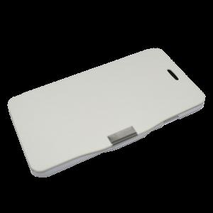 Wit kunstleer flip cover iPhone 6