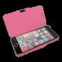 Roze kunstleer flip cover iPhone 6