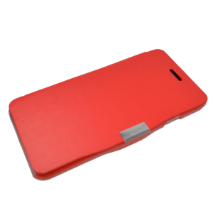 Rood kunstleer flip cover iPhone 6