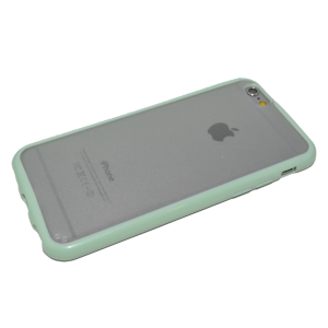 Mint/transparant TPU hoesje iPhone 6