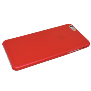 Rood/transparant mat hardcase iPhone 6 Plus