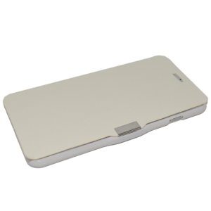 Wit kunstleer flip cover iPhone 6 Plus