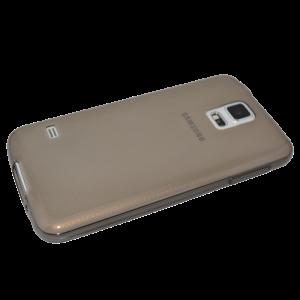 Zwart/transparant siliconen hoesje Samsung Galaxy S5