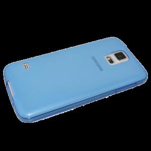 Blauw/transparant siliconen hoesje Samsung Galaxy S5