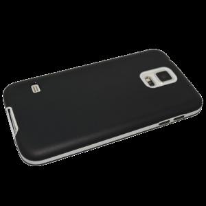 Zwart TPU hoesje met witte rand Samsung Galaxy S5