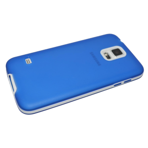 Blauw TPU hoesje met witte rand Samsung Galaxy S5