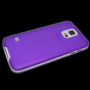 Paars TPU hoesje met witte rand Samsung Galaxy S5